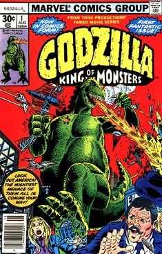 Godzilla King of the Monsters #1, August, 1977.  I still have all 24 issues that I collected as a kid.