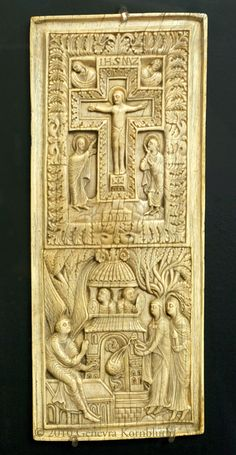 Crucifixion,carved ivory  ca 860-870