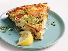 Creamy Smoked Salmon and Dill Frittata | Learn how to make Creamy Smoked Salmon and Dill Frittata. MyRecipes has 70,000+ tested recipes and videos to help you be a better cook