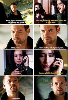 Nikita - Michael: ''I have nothing left. If you die, I die.''