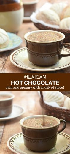 Mexican Hot Chocolate made of bittersweet chocolate, milk, and ground black pepper. Rich, creamy and delicious, it's the perfect way to warm up on cold winter days!