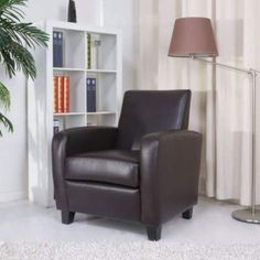 Gold Sparrow Stockton Arm Chair in Chocolate - ADC-STO-CHA-PUX-CHO