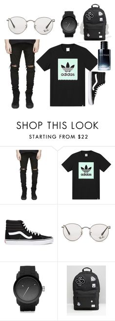 """""""Untitled #1"""" by jaxjohanna ❤ liked on Polyvore featuring adidas, Vans, Ray-Ban, Diesel, Spiral, Christian Dior, men's fashion and menswear"""