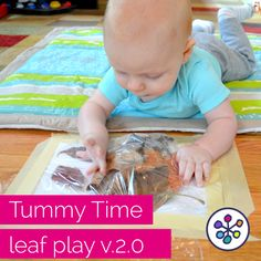 Fall activities for baby. Tummy Time play. CanDoKiddo.com