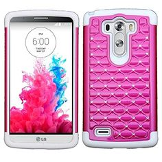 myLife Barbie Pink + White Silicone Inside {Diamond Net Design} 2 Piece Hybrid Reflex Case for the LG G3 Smartphone (Outer Rubberized Fit On Protector Shell + Internal Silicone SECURE-Grip Bumper Gel) myLife Brand Products http://www.amazon.com/dp/B00NVR505E/ref=cm_sw_r_pi_dp_PP8tub01D4FM3