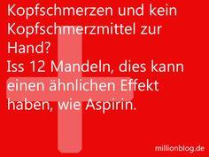 Mandeln statt Aspirin bei Kopfschmerzen