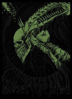 Alien Vs Predator (Glow in Dark Print Set) - GODMACHINE ----
