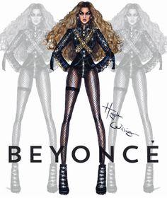 #Beyoncé in #Dsquared2 #SB50 #Superbowl