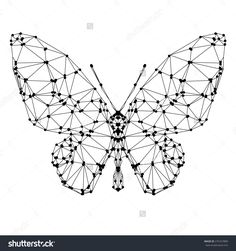 Geometric butterfly with many triangles