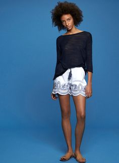 EMBROIDERED SHORTS 'ASLHEY'