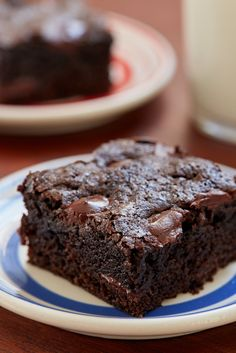 Double Chocolate Brownies Recipe by Giada De Laurentiis @gdelaurentiis http://www.giadadelaurentiis.com/recipes/181/double-chocolate-brownies