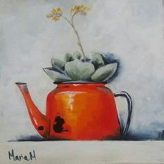 Maria M Art Drawing Projects, Art Projects, Protea Art, Country Art, Painting Lessons, Hobbies And Crafts, Painting Inspiration, Flower Art, Folk Art