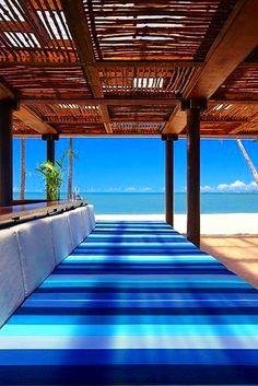 {Blue} Blue seating on island #blue