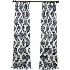 Found it at Joss & Main - Ikat Rod Pocket Curtain Panel