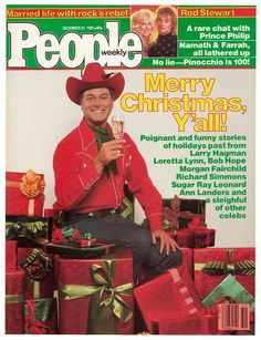 People, December 1981 On the cover: Larry Hagman Christmas Ad, Vintage Christmas, Xmas, Larry Hagman, Richard Simmons, I Dream Of Jeannie, Loretta Lynn, Bob Hope, Rod Stewart
