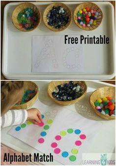 Alphabet Dot Match and MORE - Free Printables