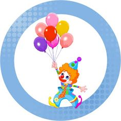 Making My Party!: Circus clowns cute - Complete Kit with frames for invitations, labels for goodies, souvenirs and pictures!