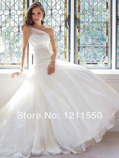 A-line Vintage Scoop  Floor Length  Bride Dress Zipper Wedding Dresses vestido de casamento 2014 New Design Custom Made PW12 $339.00