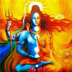 Union of Shiva and Durga(hinduism). Shiva Shakti, Arte Shiva, Shiva Art, Hindu Art, Bhagavad Gita, Indian Gods, Indian Art, Durga, Tarot