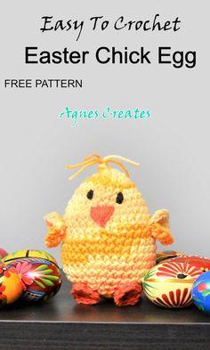 Beginner Crochet, Crochet For Beginners, Learn To Crochet, Free Crochet, Animal Knitting Patterns, Afghan Crochet Patterns, Easter Crochet, Easter Decor, Crochet Gifts