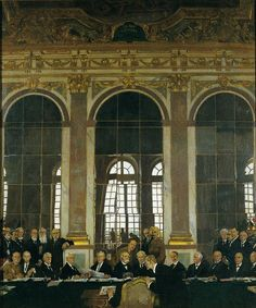 William Orpen - The Signing of Peace in the Hall of Mirrors, Versailles, 28th June 1919 (1919)