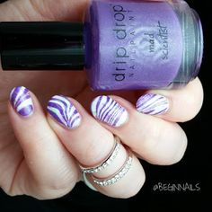 Let's Begin Nails: Cuticula Scented Nail Tape Tutorial Water Marble