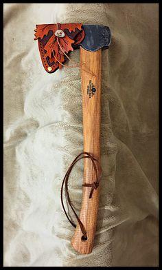 Gransfors Bruks Hunter's Axe #418 with Custom Leather Sheath by John Black