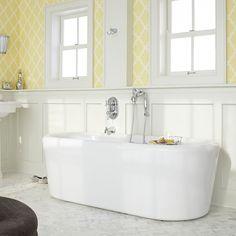 Bathtubs - Kipling - Ovale Freestanding Tub - White