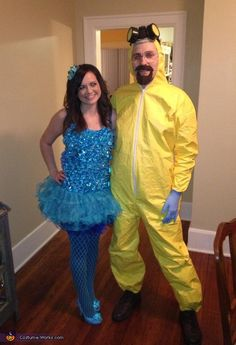 Blue meth and Walter from breaking bad costume idea for couples. Love it!!!!