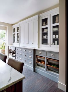 "georgianadesign: "" Mylands paint & wall coverings, London. Smallbone kitchen. """