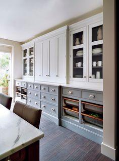 "georgianadesign: "" Mylands paint & wall coverings, London. Smallbone kitchen. """