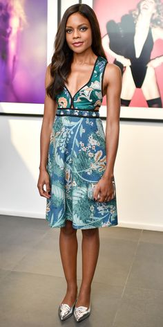 Naomie Harris's Red Carpet Style - In Sophie Webster, 2015 from InStyle.com