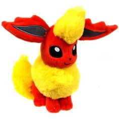 Pokemon - Plush Figure: Flareon Tomy Pokémon, Pokémon Plush www. Pokemon Eevee Evolutions, Pokemon Plush, Pokemon Party, Pikachu, Pokemon Pokemon, Christmas List 2016, Pool Toys, Craft Activities For Kids, Craft Ideas