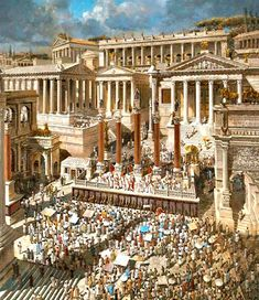 Emperor Constantine I The Great addressing the citizens of Rome in the Roman Forum # AD Roman Architecture, Historical Architecture, Ancient Architecture, Rome History, Ancient History, Art History, Ancient Rome, Ancient Greece, Ancient Aliens