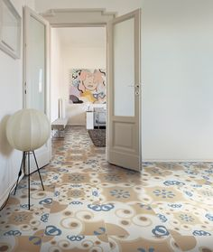 Italian tiles with graphic design of Majolica and Carpet - Frame Floor Patterns, Tile Patterns, Italian Pattern, Patchwork Tiles, Italian Tiles, Tile Suppliers, Tiles Texture, Living Room Flooring, Modern Ceramics