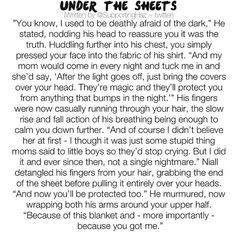 Under the sheets