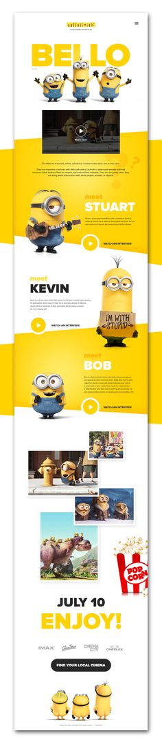 Minions Website on Behance