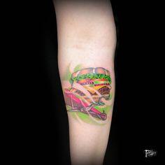 #tattoo #ink #inked #tatuaggeria #pecten #tattooed #tattoist # #sandwich #design #scissor #sleevetattoo #tatted