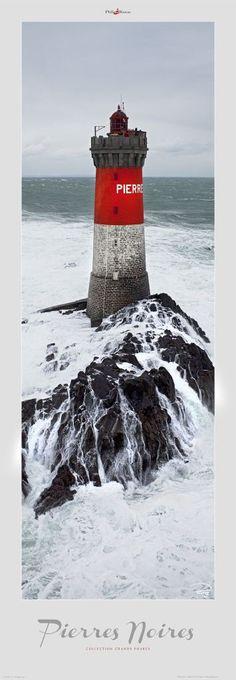 Poster photo Bretagne Le phare des Pierres Noires - Finistère - Morbihan Philip Plisson