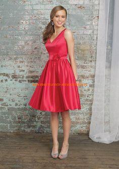 Billig Abendkleider rot A-Linie online kaufen