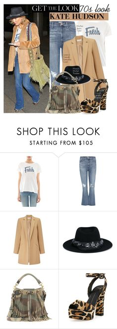 """""""Get the Look: Kate Hudson 70s Style"""" by harleenqueen ❤ liked on Polyvore featuring Mother, Miss Selfridge, Maison Michel, Yves Saint Laurent, Giuseppe Zanotti, topsets, celebstyle, CelebrityStyle and topset"""