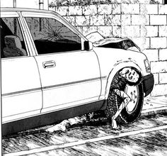 """my love for you will stop this car!"" mitsuru, uzumaki vol. 2 by junji ito"