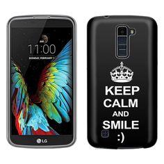 LG Premier LTE KEEP CALM and Smile on Black Skim Case