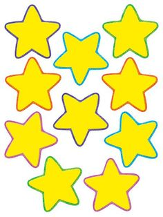 Yellow star classroom decoration accents - for decorating, for labeling, or even for memory verse games.