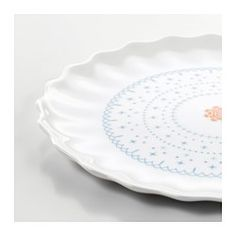 SANNING Side plate, white, patterned - IKEA