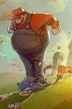 Classic characters reimagined by Coran Stone | The 30 Very Best Pieces Of Fan Art Of 2013 | Mario & Sonic