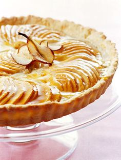Orchard Pear Tart Get a head start on the Christmas dessert by baking the tart shell in advance.