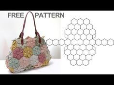 Quilting Bag Making,Quilting Bag Free Patterns,Quilt bag tutorial, Pattern Making Bag, Hand quilt Patchwork Bags, Quilted Bag, Handmade Handbags, Handmade Bags, Patchwork Hexagonal, Fabric Manipulation Tutorial, Cute Sewing Projects, Japanese Bag, Fabric Origami