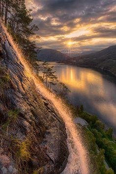 Norway...........In the waterfall by Jørn Allan Pedersen on 500px ....... Sogn og Fjordane, Norway