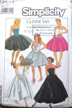 Your place to buy and sell all things handmade Simplicity Patterns, Lace Bodice, Retro Outfits, Vintage Sewing Patterns, Gunne Sax, Dress Patterns, Lace Trim, Debenhams, Evening Dresses